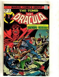 Lot Of 5 Tomb Of Dracula Marvel Comic Books # 35 36 37 38 39 VF Range RS1