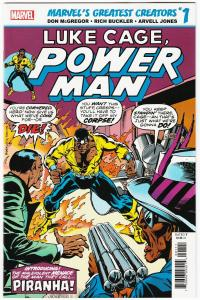 True Believers Luke Cage Power Man Piranha #1 Rep Issue #30 (Marvel, 2019) NM