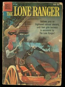 LONE RANGER #130 1959-DELL COMICS-CLAYTON MOORE PHOTO G