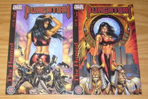 Purgatori: the Hunted #1-2 VF/NM complete series - chaos comics bad girl set lot