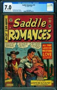 Saddle Romances #10 CGC 7.0 1950- Feldstein - EC Golden Age 1565755009