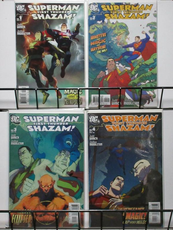 SUPERMAN SHAZAM FIRST THUNDER (2005) 1-4  complete set!