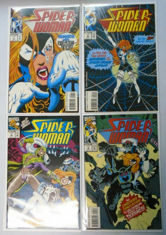 Spider-Woman (2nd Series) Run:#1-4, 8.0/VF (1993)