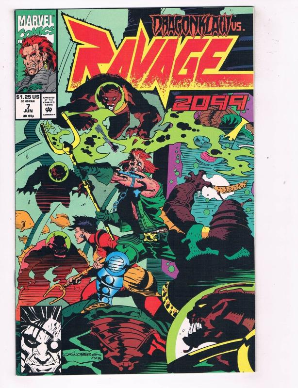 Ravage 2099 (1992) #7 Marvel Comic Book Stan Lee Vengeance Dragonklaw HH4 AD38