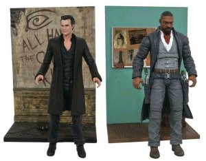 DARK TOWER Action Figures set, Gunslinger and Man in Black Stephen King MIB 1ea