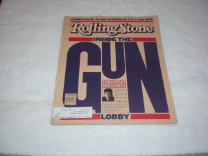 Rolling Stone 1981 Gun Lobby, James Caan, Harold Smith, Brook Shield Ad, Records