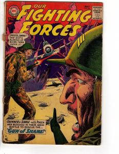 OUR FIGHTING FORCES 84 GOOD(loose cover) Kubert cvr