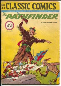 Classic #22 1944-Gilberton-Pathfinder-HRN 22-James Fenimore Cooper-VG/FN