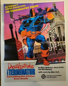 DEATHSTROKE THE TERMINATOR COMIC POSTER 22 X 17 DC COMICS POSTERS