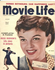 MOVIE LIFE - JAN 1955-JEFF CHANDLER-JUDY GARLAND-MITZI GAYNOR-JANE RUSSELL-MORE