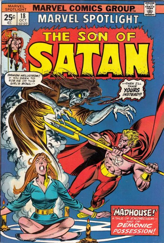 Marvel Spotlight on Son of Satan #18 (Oct-74) FN/VF+ High-Grade Son of Satan ...