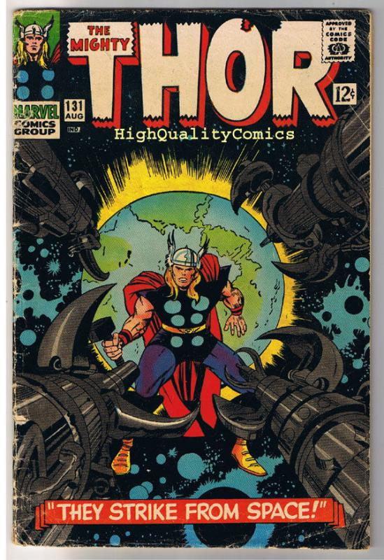 THOR #131, VG, God of Thunder, Hercules, Jack Kirby,1966, more Thor in store