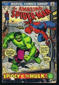 Amazing Spiderman #119 ORIGINAL Vintage 1973 Marvel Comics Incredible Hulk