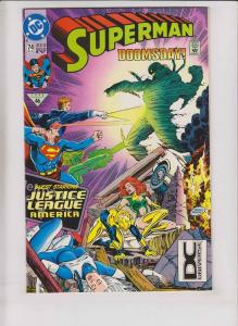 Superman vol. 2 #74 VF doomsday vs jla - 4th print  dc universe variant printing