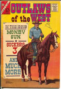 Outlaws of The West #55 1965-Charlton-Indians-violence-classic imagery-VG