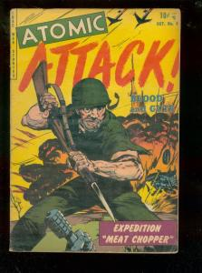 ATOMIC ATTACK #8 1953-SCIENCE FICTION ATOMIC WAR COMIC  VG/FN