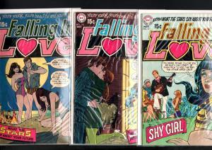 FALLING IN LOVE LOT-#'s 109, 110, 111-DC ROMANCE-GUITAR-SWIMSUIT-BEACH-BA VG
