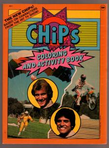 CHiPs Coloring and Activity Book #402-1 1983-Motorcyle-Eric Estrada-TV-VF