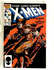 Uncanny X-Men # 212 VF/NM Marvel Comic Book Sabretooth Wolverine Cyclops HY1