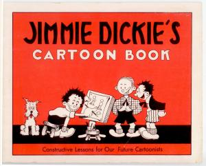 Jimmy Dickie's Cartoon Book (RARE 1948 print of How to draw cartoons)