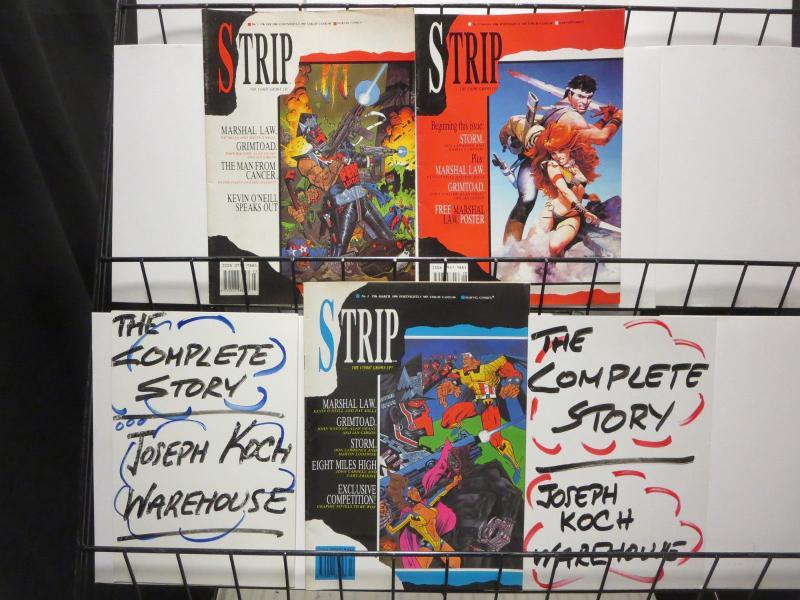 Strip The Comic Grows Up Marvel UK Magazine Lot #1-3 1990 Marshal Law Grimtoad