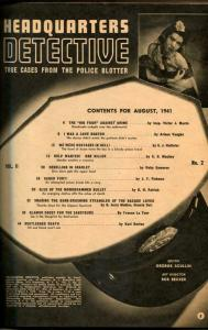 Headquarters Detective Magazine August 1942- LOVE DOCTOR