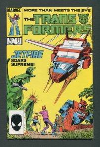 Transformers #11 / 8.0 VFN  December 1985