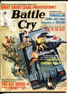 BATTLE CRY 10/1963-PIRATES-WOMEN VS. COMMIE TANK COVER G