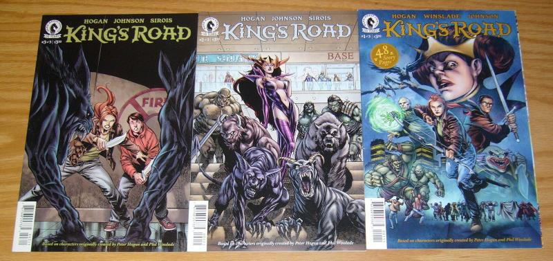 King's Road #1-3 VF/NM complete series - fantasy realm - phil winslade set lot 2