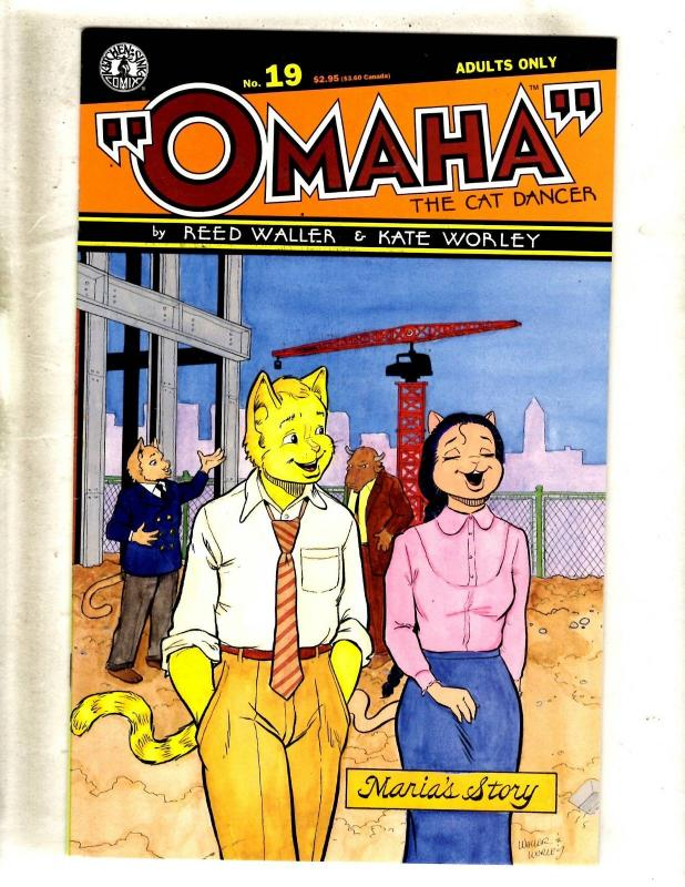 Lot Of 10 Omaha Kitchen Sink Comic Books # 19 20 1 2 3 3 4 1 2 Interview #59 JF1