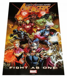 Avengers Fight As One Folded Promo Poster (36 x 24) - New!