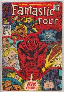 Fantastic Four #77 (Aug-68) GD Affordable-Grade Fantastic Four, Mr. Fantastic...
