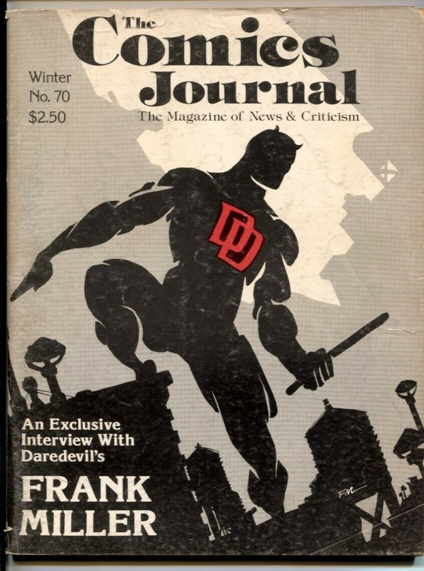 Comics Journal #70 1982- FRANK MILLER- Daredevil- Wally Wood VG
