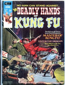 The Deadly Hands of Kung Fu #2 1974- Bruce Lee- Neal Adams cover FN