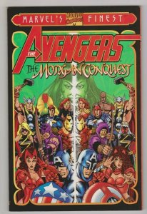 THE AVENGERS - THE MORGAN CONQUEST 2000 MARVEL COMICS TRADE PAPERBACK PEREZ ART
