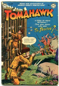 TOMAHAWK #9 1952- DC WESTERN -INDIAN ATTACK- GOLDEN AGE g/vg