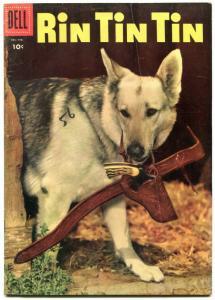 RIN TIN TIN #11 1956-GERMAN SHEPHERD PHOTO COVER-DELL VG