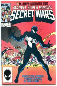Secret Wars #8 comic book--1st Black Costume Spider-Man-1984 NM