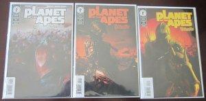 Planet of the Apes comics set:#1-3 8.0 VF (2001)