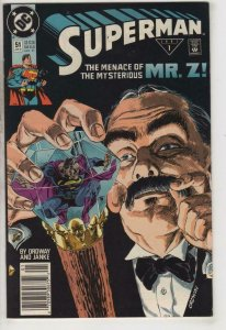 SUPERMAN #51, VF/NM, Ordway, Janke, Mr Z, 1987 1991, more in store