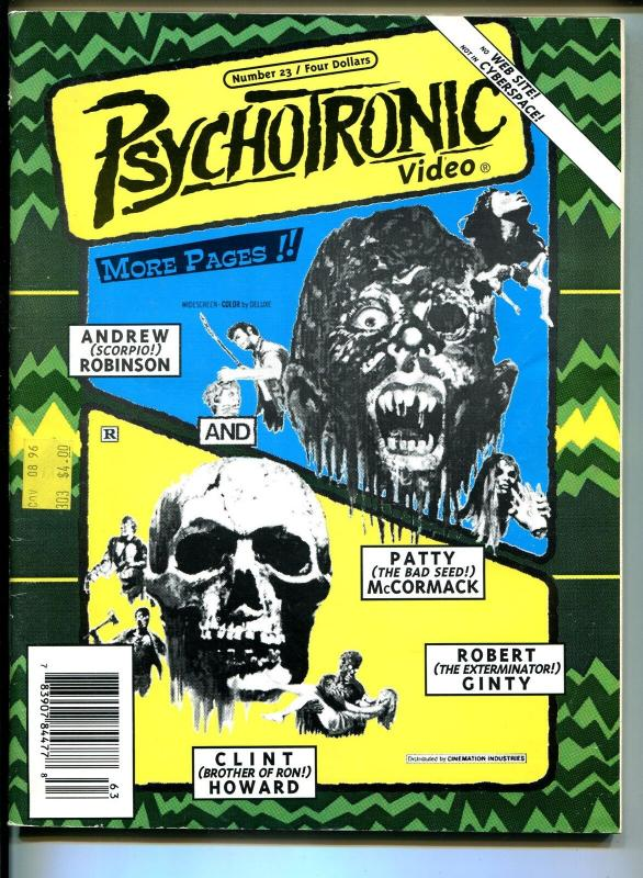 Psychotronic Video #23-1997-Patty McCormac-0horror films-chillercon-G/VG