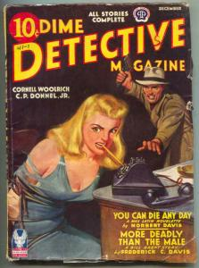 Dime Detective Pulp 12/42- headlight cover- Cornell Woolrich