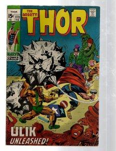 Mighty Thor # 173 FN Marvel Comic Book Loki Odin Asgard Sif Avengers Hulk RB8