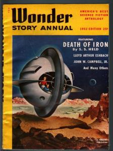 WONDER STORY ANNUAL 1952-SCI-FI-GREAT COVER FN