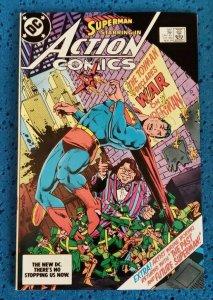 Action Comics #561 (DC, 1984) NM 9.4 Superman Toy Man Declares War on Superman!