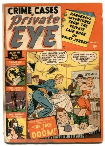 Private Eye #2 1951- Electric Chair- Atlas Crime comic G