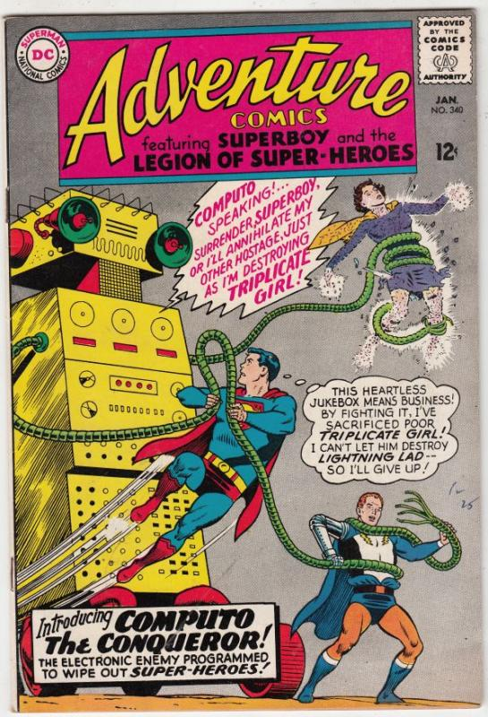 Adventure Comics #340 (Jan-66) VF+ High-Grade Legion of Super-Heroes, Superboy