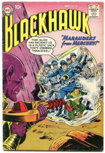 BLACKHAWK #136 1959 DC MARAUDERS FROM MERCURY SCI FI VG-