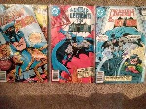 LOT of The Untold Legend of the Batman 8.0 #1 #2  #3 (1980)