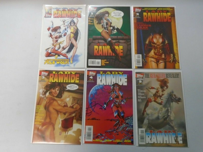 Lady Rawhide set #1-5+ Wizard 1/2 8.5 VF+ (1995 1st Series Topps)